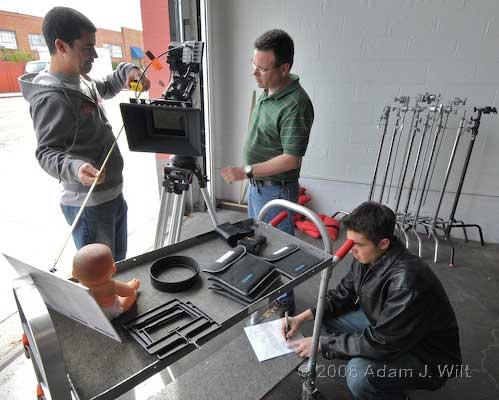 Pix: Zacuto rig; RED tests 24