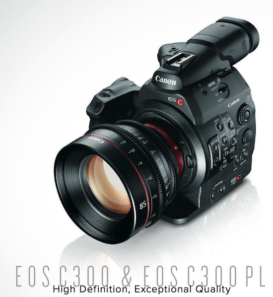 Canon's new EOS C300 digital cinema line - competition for Red or Sony? 4