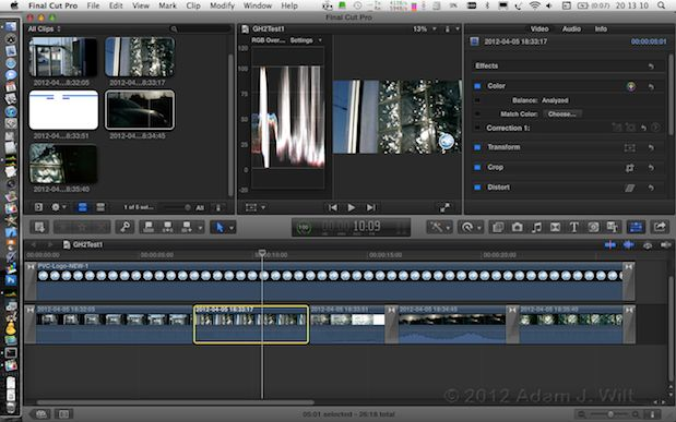Quick Test: FCPX 10.0.6 21