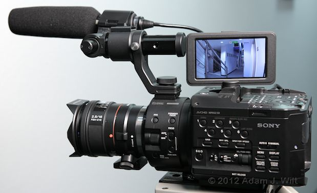 Quick Look: Alpha A-mount Lenses on the FS100 55