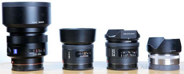 Quick Look: Alpha A-mount Lenses on the FS100 50