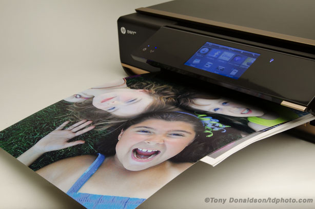 HP Envy 110 e-all-in-one wireless wi-fi printer fax scanner review Prophotocoalition.com borderless printing