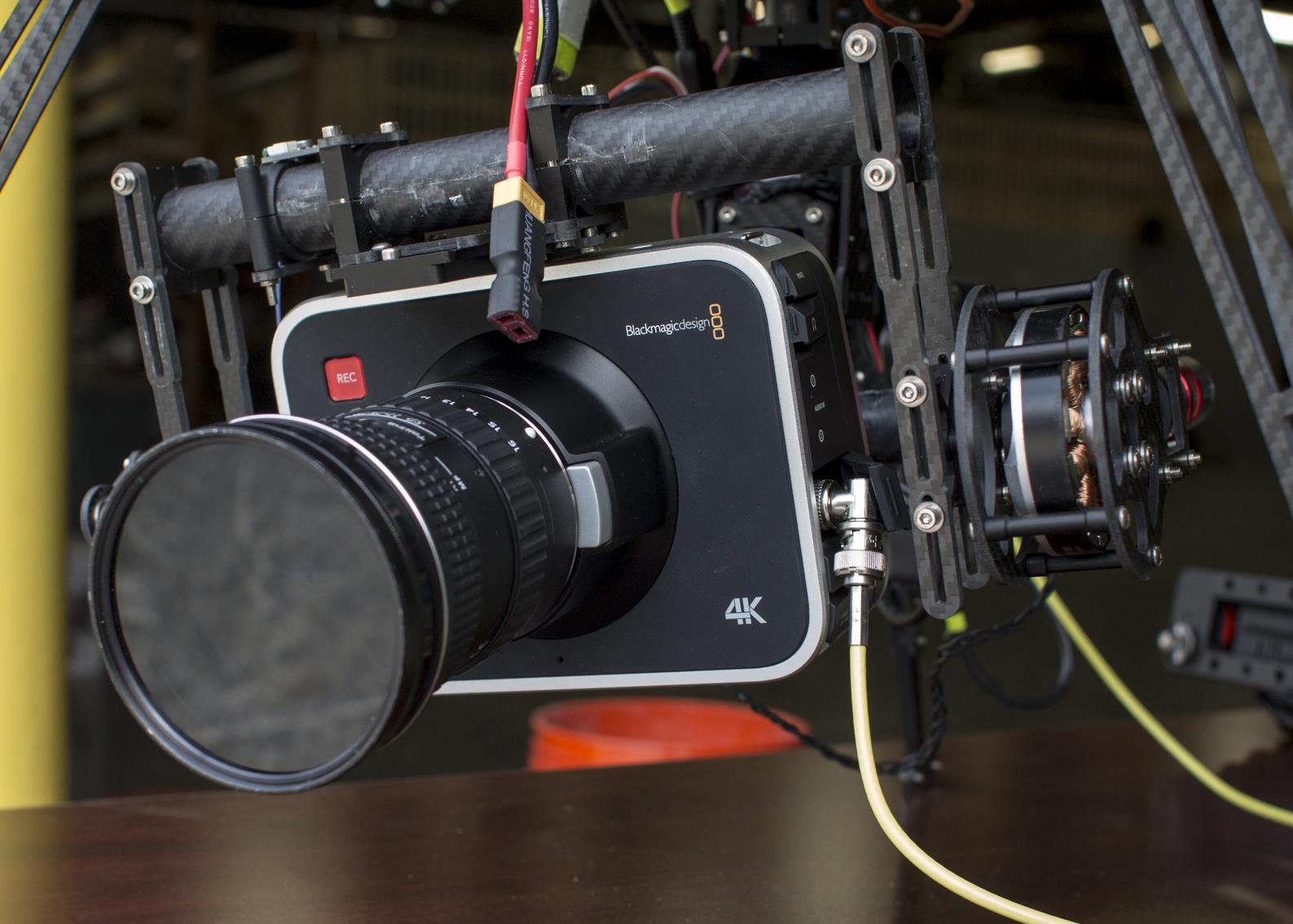 Flying The 4K Blackmagic Production Camera 4