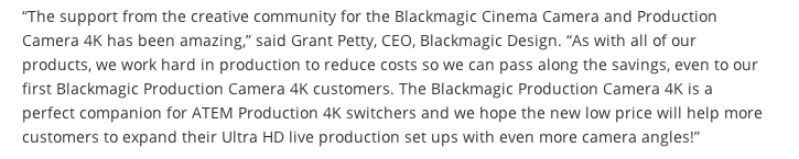 Blackmagic 4K Production Camera Now Shipping 7