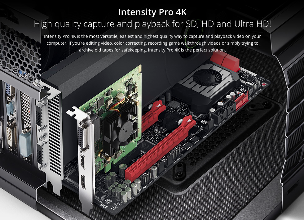 Blackmagic Design Announce New Intensity Pro 4K Capture Card 10