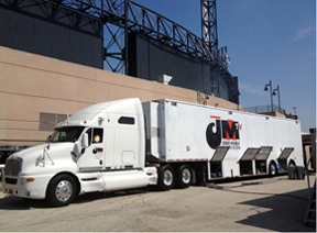 Mobile production truck converts to HD and Matrox MicroQuad multiviewers go along for the ride 9