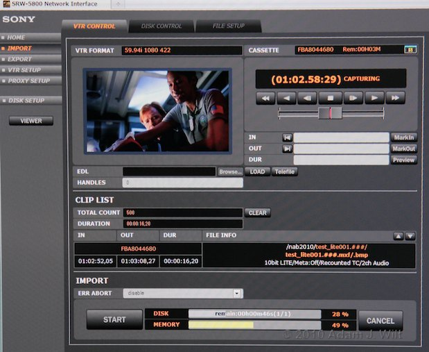 NAB 2010: Sony, Sunday Night 22