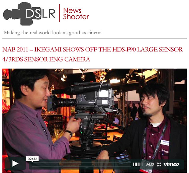 """NAB 2011 - Ikegami's HDS-F90 LSS 4/3"""" Camcorder 4"""