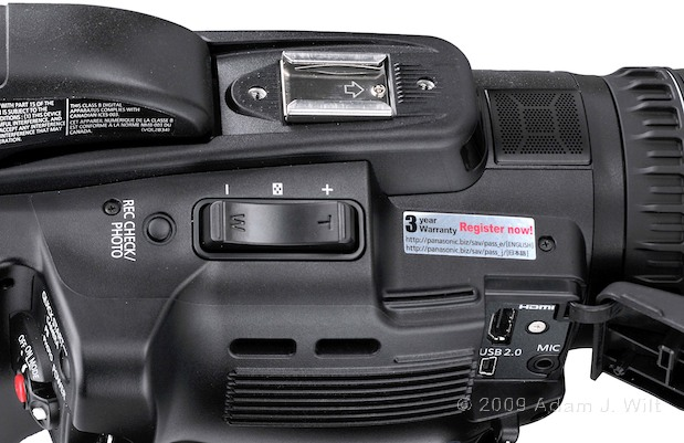 "Review: Panasonic AG-HMC40 1/4"" 3-CMOS HD Camcorder 122"