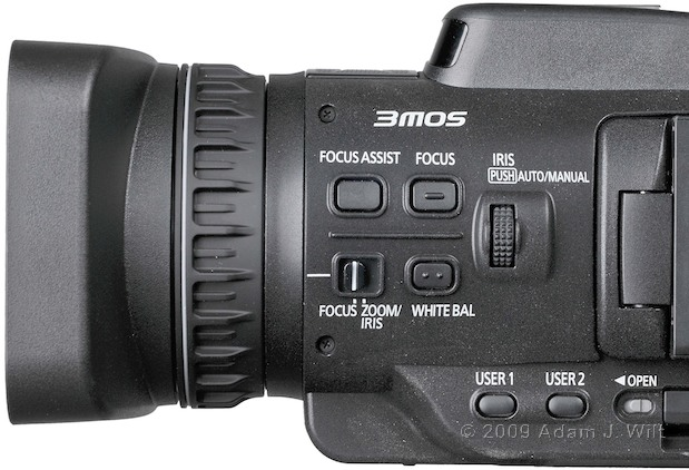 "Review: Panasonic AG-HMC40 1/4"" 3-CMOS HD Camcorder 110"