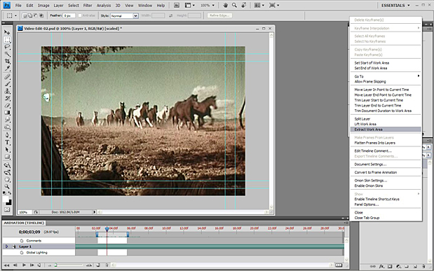 Basic Video Editing with Photoshop CS4/CS5 Extended 55
