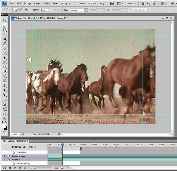 Basic Video Editing with Photoshop CS4/CS5 Extended 56
