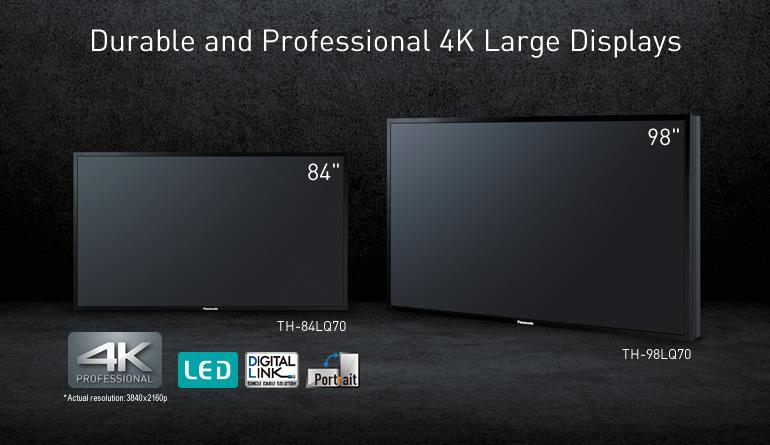 "Panasonic Debuts 98"" and 84"" Professional 4K LED Displays at NAB SHOW 4"
