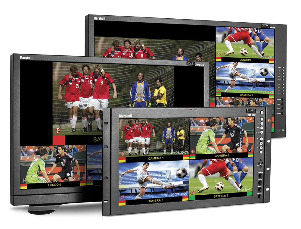 NAB 2014: Marshall Electronics Releases Line of 4K-Compatible Quad-Viewer Monitors 4