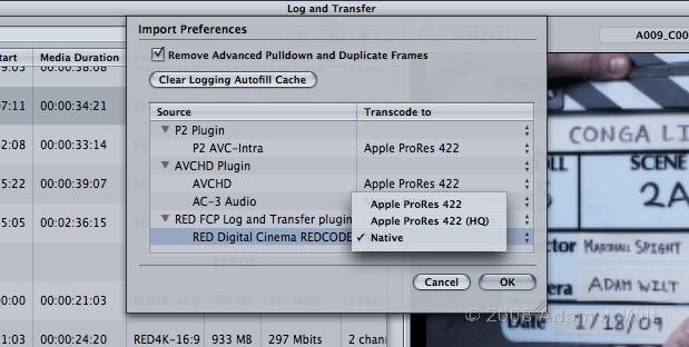 RED+FCP: Native REDcode Importing 31