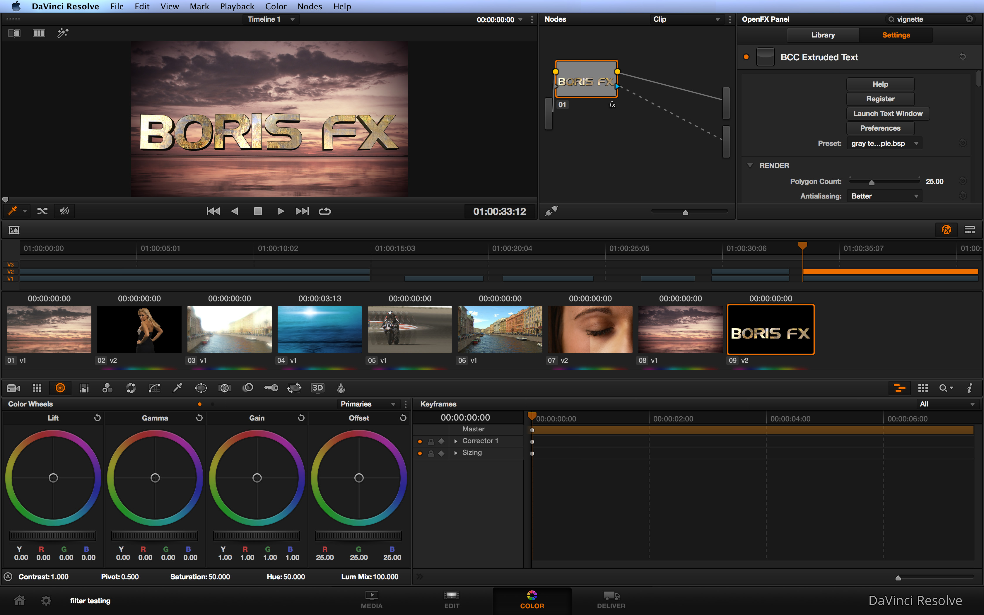 Boris FX Adds Blackmagic DaVinci Resolve Support to Boris Continuum Complete and RED Product Lines 4