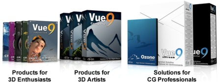E-on software ships French, German versions of Vue 9 for 3D artists and enthusiasts 3