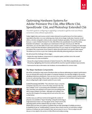 Adobe Hardware Performance White Paper 3