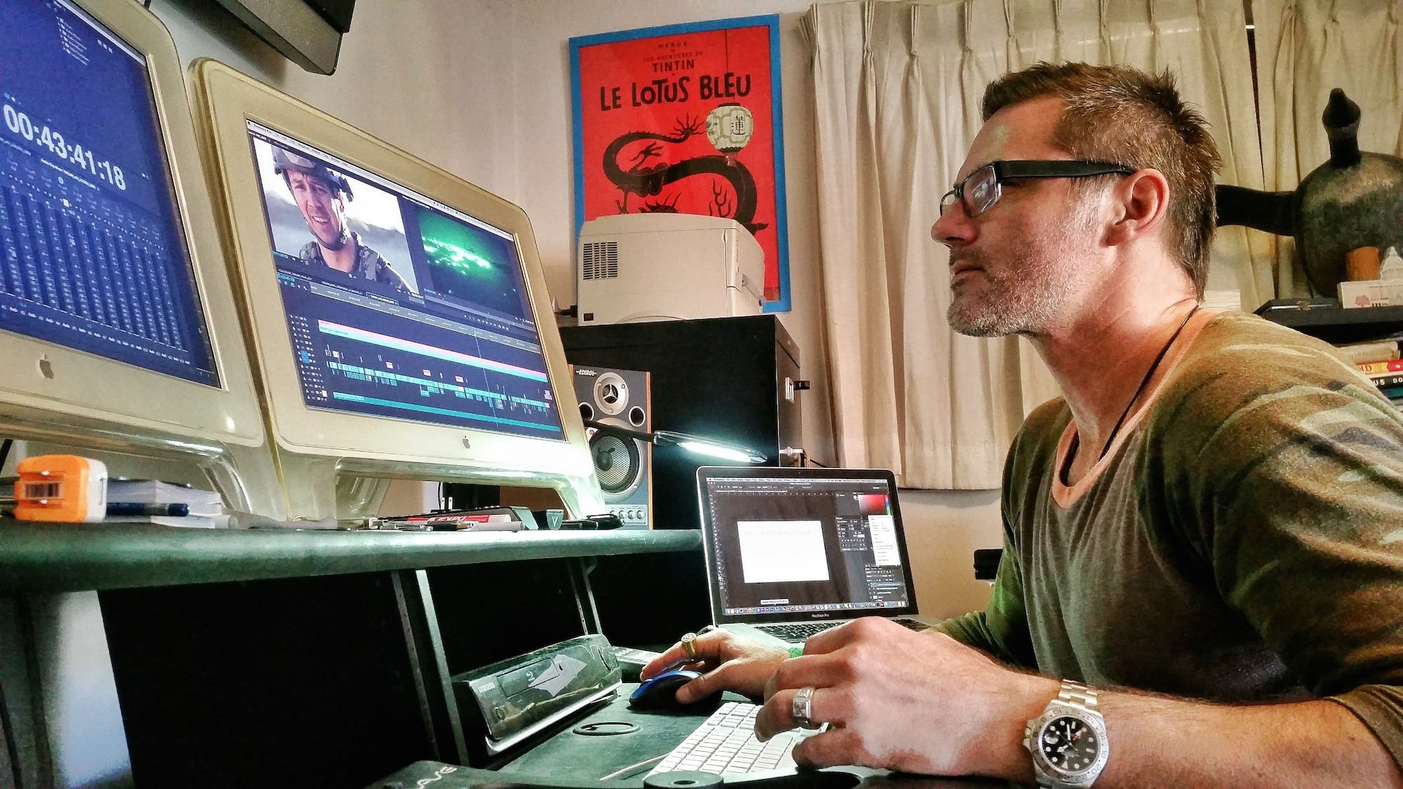 Vashi Nedomansky edits documentary on PTSD with Adobe Premiere Pro CC 13