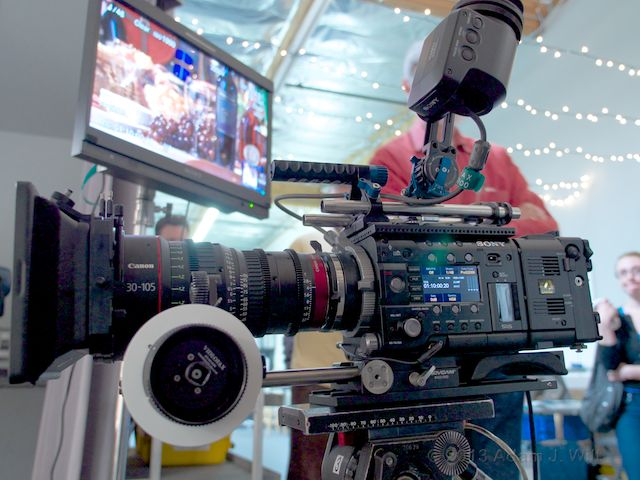 Sony F55 with Canon 30-105mm T2.8 zoom