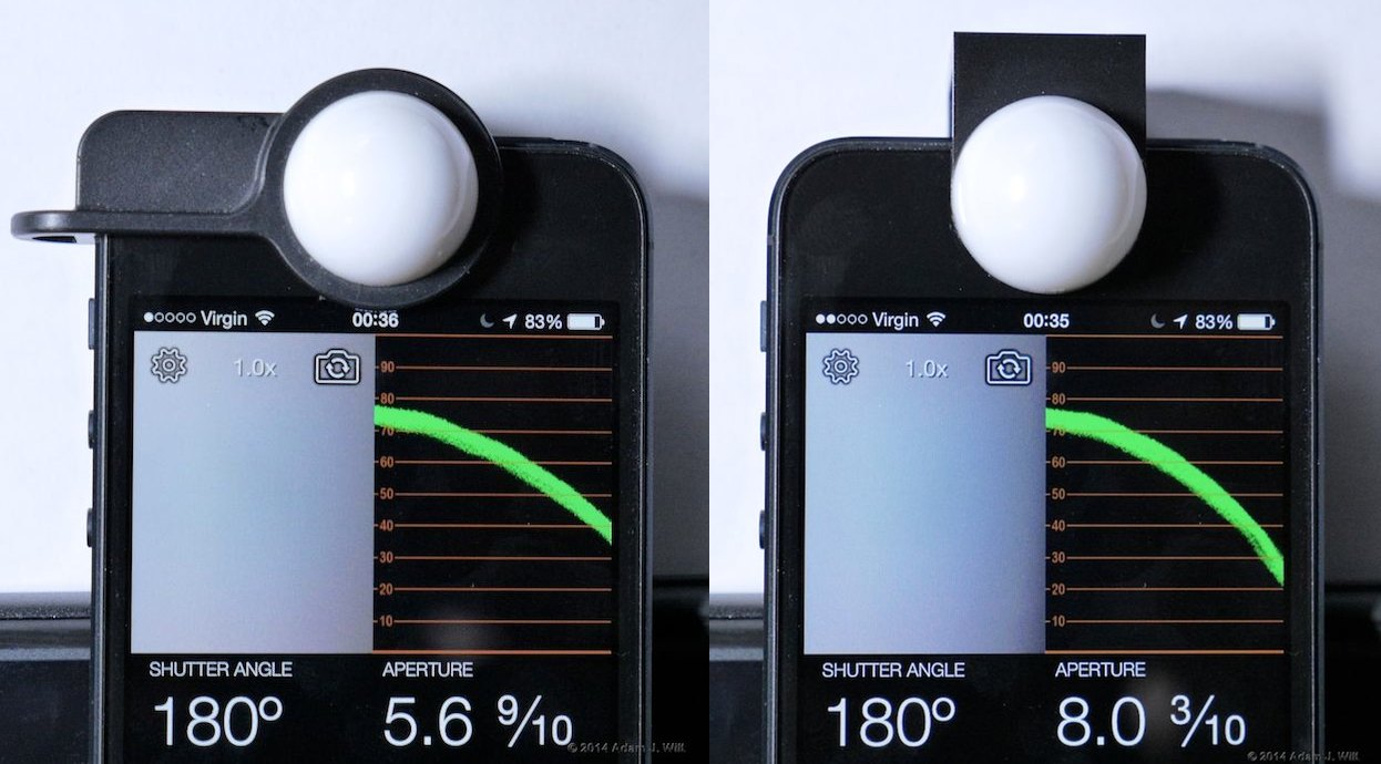 Luxi for iPhone 5 and Luxi For All, with the same lighting