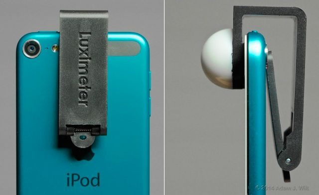 Luxi For All clipped to an iPod touch 5G