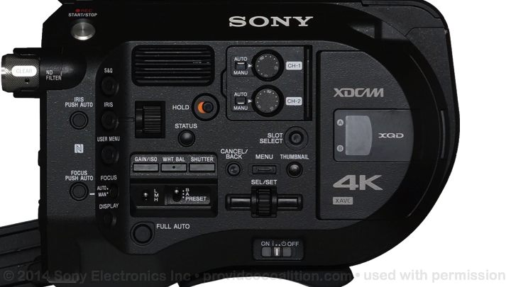 122 Slides on the Sony PXW-FS7 75