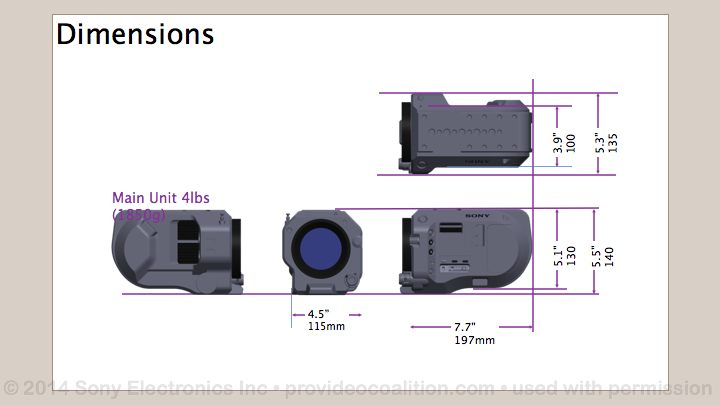 122 Slides on the Sony PXW-FS7 114