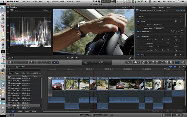 FCPX 10.1 with Browser hidden