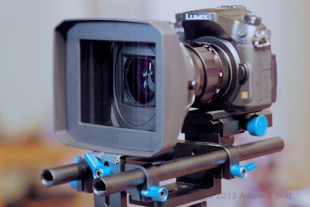 Panasonic LA7200 adapter, Voigtlander Nokton 25mm, GH3 camera