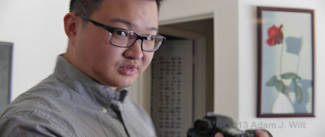 SLR Magic's Andrew Chan, captured in 2.37:1 'scope with his own lens