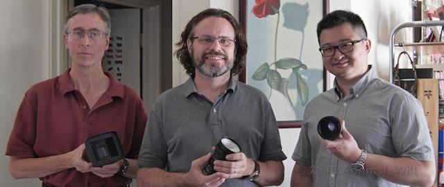 Anamorphic selfie: Adam Wilt, Art Adams, and Andrew Chan.