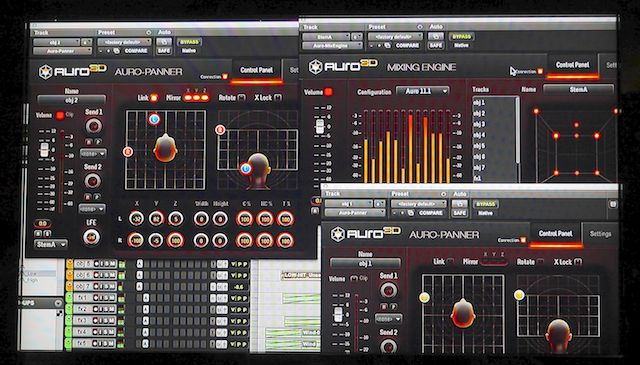 Barco's Auro 11.1 immersive sound mixing UI