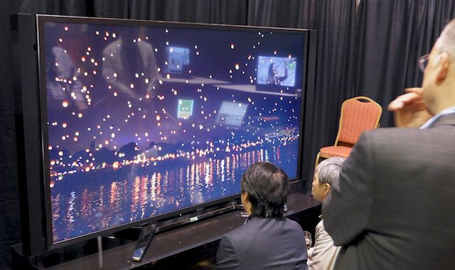 Sony's 84-inch 4K screen.