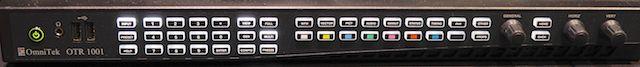 OmniTek OTR 1001 front panel.