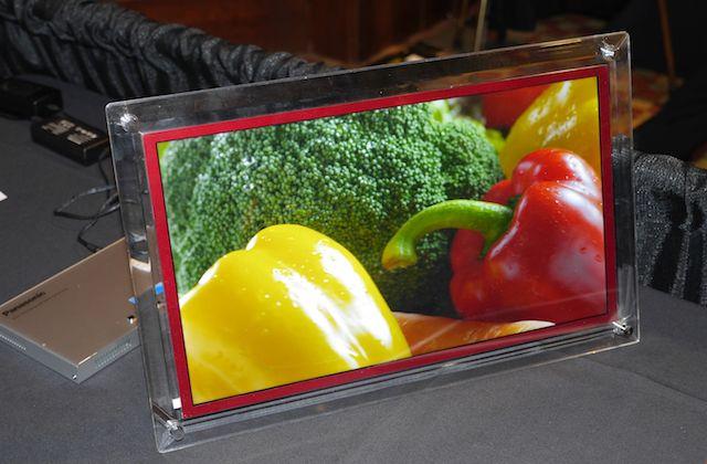 Panasonic's 20-inch 4K panel.