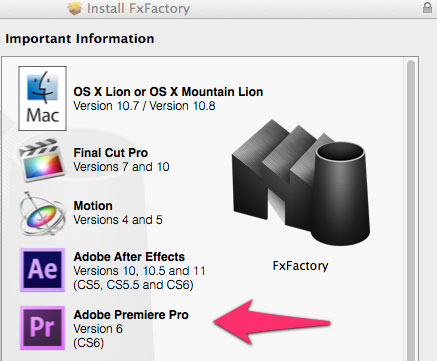 Update Alert: FX Factory moves to 4.0 and now supports Premiere Pro CS6 3
