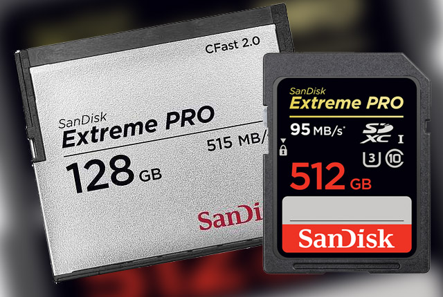 SanDisk: Upgraded CFast 2.0 and New 512 GB SD 9