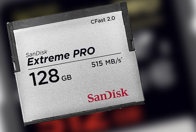 SanDisk: Upgraded CFast 2.0 and New 512 GB SD 11