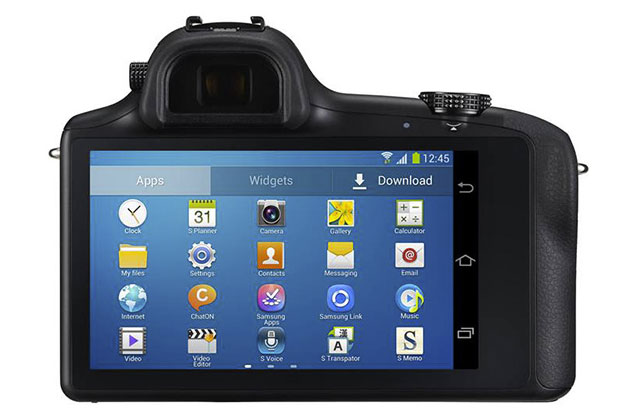 The Samsung Galaxy NX20 LCD looks like a Smartphone
