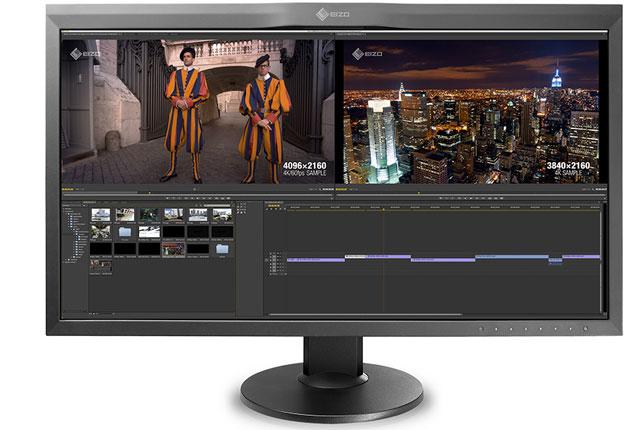 New EIZO 31-inch 4K Monitor Self-Calibrates 12