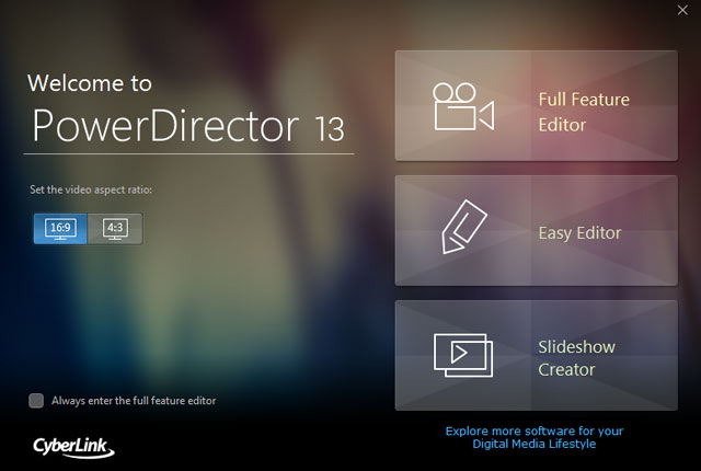 PowerDirector 13 Supports XAVC-S and H.265 10