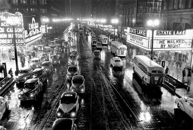 Kubrick's photo of Chicago, published by Look magazine in 1949