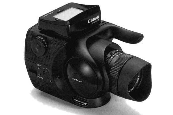 The prototype for a Canon medium format camera from the 80s