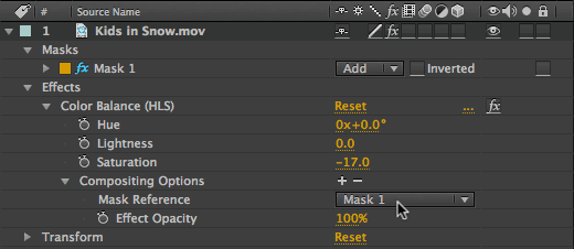 Compositing Options in After Effects