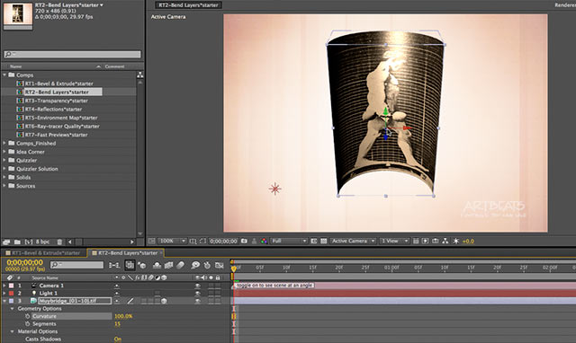 After Effects Apprentice Free Video: Bending Layers in AE CS6 4