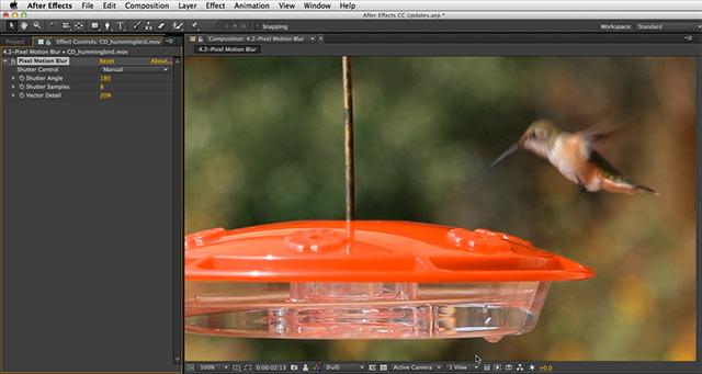 After Effects CC Pixel Motion Blur