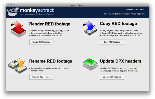 Tip: Monkey Extract Painlessly Converts R3D to QuickTime or Sequences 6