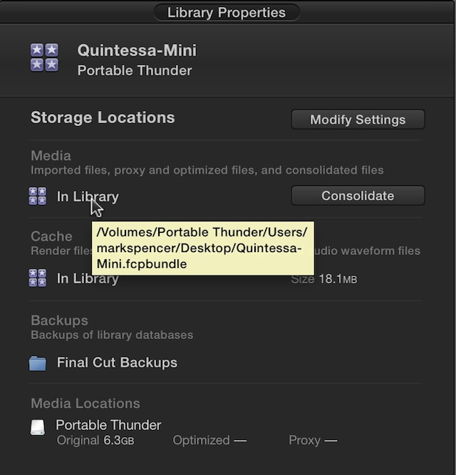 Fig 2. The file path of each storage location is revealed by a tooltip when moving the pointer over the storage location.