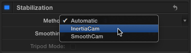 The new InertiaCam stabilization option.